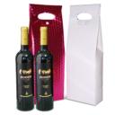 bolsa para duas garrafas de vinho com botao
